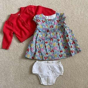 Gap Baby Floral Dress and Cardigan